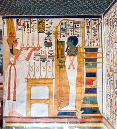 Nefertari making an offering of linen to Ptah,. Ancient Egyptian Paintings, Ancient Art, Ancient History, Egypt Museum, Great Pyramid Of Giza, Pyramids Of Giza, Ancient Mysteries, Photos, Oasis
