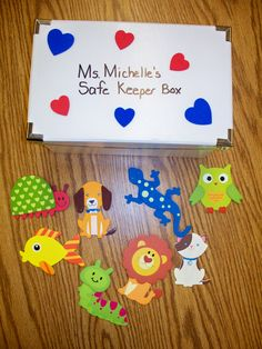 This is my Safe Keeper Box.  The box is from IKEA and the wooden shapes are from Michaels.