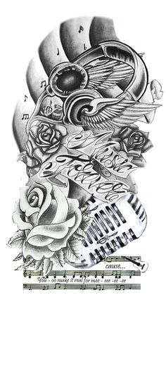 Music Tattoo | Tattoo - Music Forever. by ~mikey121101 on deviantART