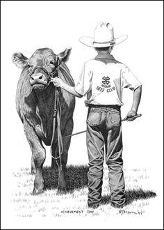 Achievement Day by Bernie Brown . Great 4-H prize!www.farmsteadgallery.ca