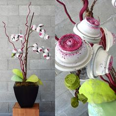 This is pretty cool. Graffiti Paint Cans Transform Into Beautiful Flower Arrangements