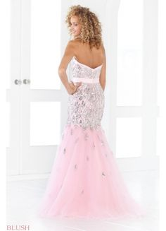 Shining Organza Mermaid Sweetheart Neckline Diamond Prom Dress