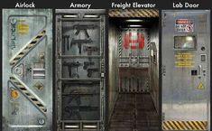 Transform your room into a science fiction universe with one of these very cool Metal Core Door Wall Decals. Star Labs, Porta Diy, Science Fiction, Laser Tag, Vinyl Doors, Metal Doors, Glass Doors, Door Stickers, Door Wall