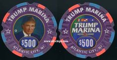 #AtlanticCityCasinoChip of the day is a $500 Trump Marina back up. #CasinoChip