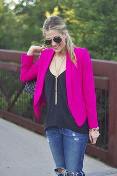 2013 silk cami like this one from Topshop Express SHAWL COLLAR JACKET