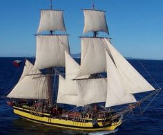 """LA GRACE"" (78.1' Two Masted Czech Brig) (Replica) Built 2010 and is Used Solely to Teach the Art of Old Time Seamanship."