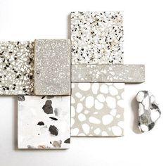Beachy terrazzo accents in the bathrooms? Terrazzo Flooring, Bathroom Flooring, Küchen Design, Tile Design, Deco Design, Terrazo, Material Board, Floor Texture, Interiores Design