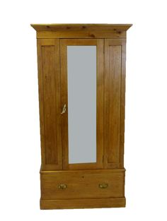 This elegant and practical early 20th century Pine Wardrobe is a beautiful rich honey colour. Beautiful Heritage piece from www.resourcevintage.co.uk