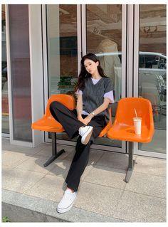 Korean Fashion Trends, Korean Girl Fashion, Ulzzang Fashion, Korean Street Fashion, Kpop Fashion, Fashion Outfits, Chic Black Outfits, Korean Casual Outfits, Cute Casual Outfits