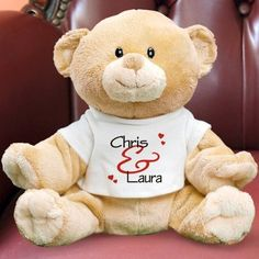 Personalized Romantic Couples Teddy Bear - Gifts Happen Here - 1