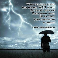 Patience and persistence will always triumph over adversity. #MentalToughness
