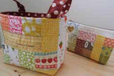 Fabric basket... I really love to make baskets! :)  www.vjahodovce.blogspot.com