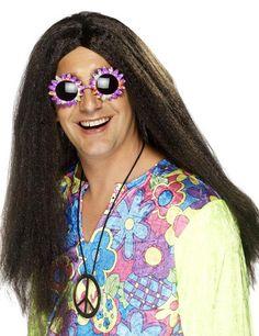 Hippie Perücke Karneval braun aus der Kategorie Karnevalsperücken. Mit dieser genialen Hippie-Perücke verbreiten Sie ganz viel Liebe, so viel ist klar! Eine tolle Faschingsperücke, die Hippiekostüme perfekt ergänzt.