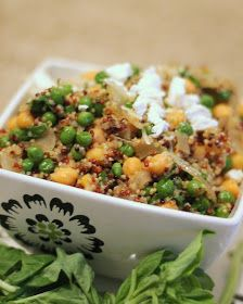 Brunch N' Cupcakes: {Quinoa Risotto with Peas and Chickpeas}