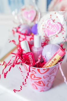 A Galentine Party + Fave Drugstore Beauty Buys Valentines Day Food, Valentine Day Crafts, Valentine Decorations, Happy Valentines Day, Valentine Party, Valentines Goodie Bags, Goody Bags, Favor Bags, Valentine's Day Quotes