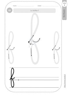 Cursive Letters, Tracing Letters, Preschool Letters, Preschool Worksheets, Alphabet Letters, Handwriting Worksheets, Handwriting Practice, Help Teaching, Teaching Resources