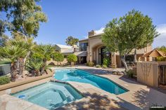 Gainey Ranch home for sale in Scottsdale, Arizona. Take a dip in the pool.