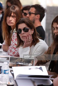 Member of the jury Princess Caroline of Hanover looks at creations during the 30th International Festival of Fashion and Photography on April 24, 2015 in Hyeres, France. Karl Lagerfeld is the artistic director of the 2015 festival.