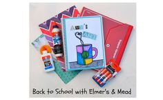 Customize your school supplies using glue, glue sticks, and other embellishments.