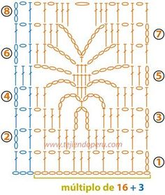 Best 12 crochet spider point We are want to say thanks if you like to share this post to another people via your Crochet Stitches Chart, Crochet Motifs, Crochet Borders, Crochet Diagram, Crochet Squares, Filet Crochet, Crochet Lace, Crochet Patterns, Graph Crochet