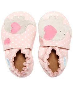 Robeez Baby Girls' Little Peanut Shoes