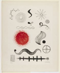 Alexander Calder (American, Untitled- Date: 1946 - Medium: Lithograph. Alexander Calder, Sculpture Art, Sculptures, Picture Boxes, Kinetic Art, Whitney Museum, Art Plastique, Famous Artists, American Artists
