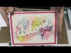#174 How to Emboss, Stmap & Color Stencils with a Big Shot & Gelatos by Scrapbooking Made Simple - YouTube
