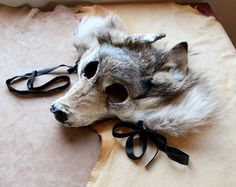 RESERVED Wolf mask  Real ecofriendly gray wolf fur by thegreenwolf, $160.00