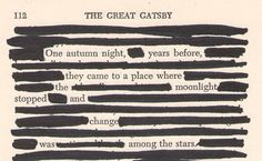 one autumn night, years ago, they came to a place where the moonlight stopped and there was change among the stars // fitzgerald's gatsby, read selectively