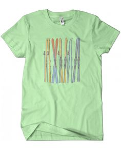 Evoke Apparel - Vintage Skis Graphic Tee, $25.00 (http://www.evokeapparelcompany.com/vintage-skis-graphic-tee/)