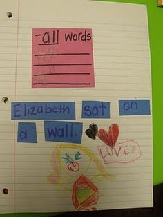 Word Work Journals....Awesome Idea from Ms. Jump