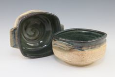 "Forrest McDaniel. ""Square Bowls"" 5"" x 3"" x 5"" McDaniel Studio. See this work and more at the Tennessee Craft Fair May 2-4, 2014 at Nashville's Centennial Park."