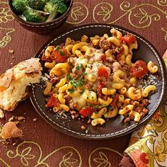 Stovetop Italian Macaroni Recipe -It's not every day that a cost-conscious menu pleases both the eye and the stomach, but this scrumptious stovetop entree does just that. —Laila Zvejnieks, Stoney Creek, Ontario