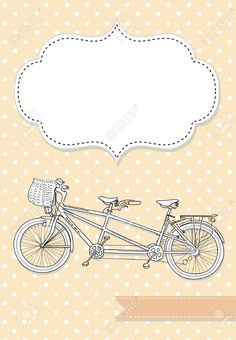 Tandem Bicycle Wedding Invitation With Polka Dot Background Royalty Free Cliparts, Vectors, And Stock Illustration. Image 20468379.
