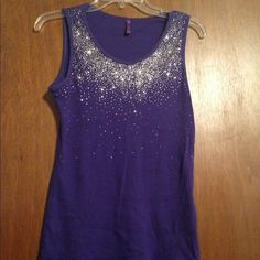 ETHYL Purple Sparkly Top Purple Sparkly Tank Ethyl Tops Tank Tops