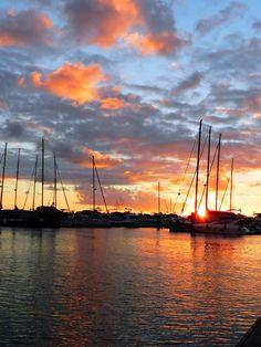 Wonderful sunset, Bahia Marina.