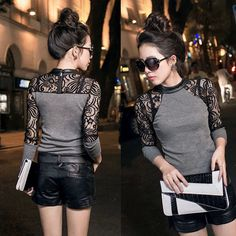 Cheap shirt accessories, Buy Quality sweater bear directly from China shirt sublimation Suppliers:   Meterial: Cotton Blend , Lace , PU LeatherSuitable For Season: Spring , AutumnFashion Element:Splicing Primer shirtSty