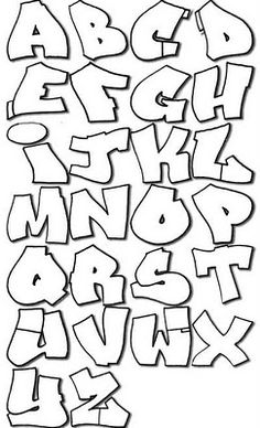 graffiti art pictures: Wavy Graffiti Alphabet in Sketch Letters A-Z Design Paper Graffiti Art, Graffiti Lettering Alphabet, Graffiti Drawing, Calligraphy Alphabet, Hand Lettering, Alphabet Letters, Grafitti Letters, Typography, Easy Graffiti