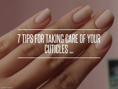 #Skincare #Cuticles