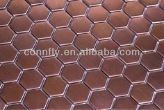 Antique Copper Brushed Stainless Steel Hexagon Mosaic Tile - Buy Hexagon Mosaic Tile,Hexagon Mosaic Tile,Hexagon Mosaic Tile Product on Alibaba.com