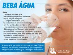 #HAC #HospitalAnacosta #Saúde #Water #BeberÁgua #Àgua #Nutrição #Nutri #BemEstar #Hidratação #Hidratar