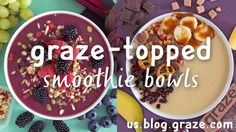 Here at graze we select the healthy foods that actually taste good and handpick your very own snack box, delivered to any UK address. Graze Box, Healthy Snacks, Healthy Recipes, Snack Box, Smoothie Bowl, Acai Bowl, Good Food, Fruit, Breakfast