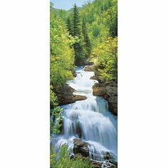 $13.12 Wonderfall Waterfall Giant Door Poster Art 34 x 79""
