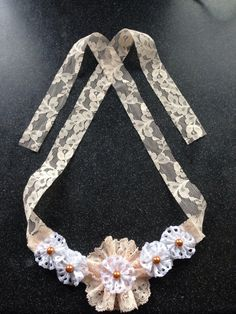 Lace flower necklace on Etsy, Handmade Jewelry, Unique Jewelry, Handmade Gifts, Lace Flowers, Flower Necklace, Jewellery, Diamond, Trending Outfits, Bracelets