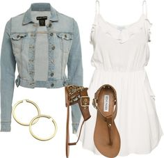"""""""Jean Jacket Outfit!"""" by conner-kawehionalani on Polyvore"""