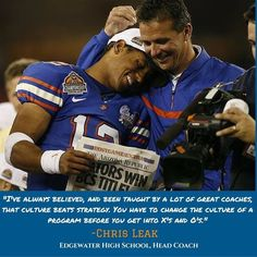 Wish my former National Champ QB Chris Leak all the best at his new position of Head Football Coach at Edgewater HS. - Urban Meyer 4/26/2016
