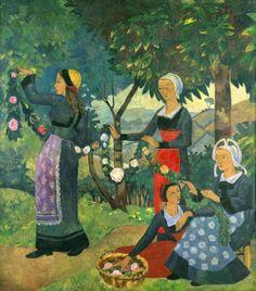 womeninarthistory:   The Rose Garland, Paul Serusier