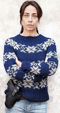 They'll make a Killing: Scandinavian knitwear company releases two jumper designs worn by unlikely style icon Sarah Lund in the cult detective drama Lund, Jumper Knitting Pattern, Knitting Patterns, Jumper Designs, Fair Isle Knitting, Knitwear, Knit Crochet, Inspiration, Outfits