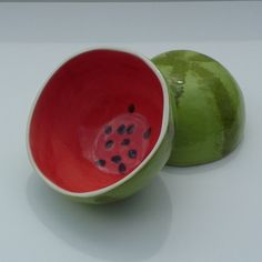 Mini Watermelon Bowl by vegetabowls on Etsy, $22.00
