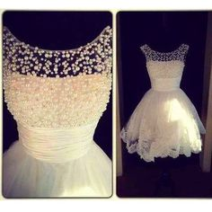 Short Prom Dress Homecoming Dresses Party Gown With Pearls pst0715